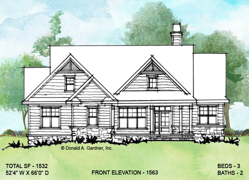 Front Rendering of Conceptual Plan 1563