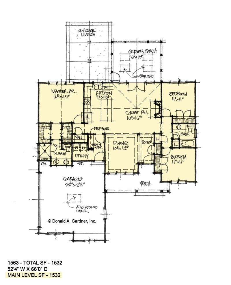 First Floor Plan of Conceptual Plan 1563