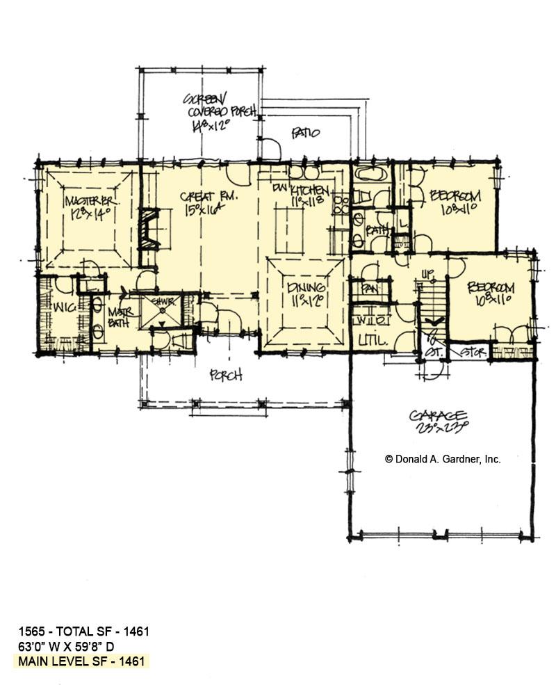 First Floor Plan of Conceptual Plan 1565
