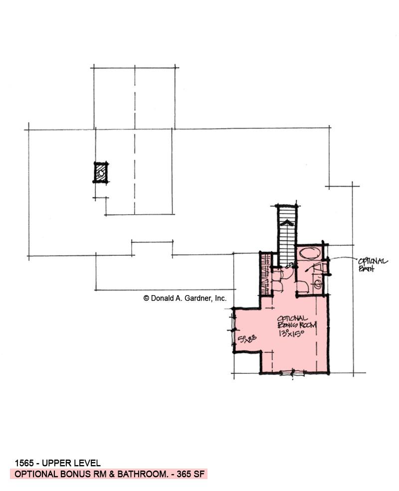 Second Floor Plan of Conceptual Plan 1565