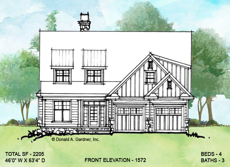 Front elevation of conceptual design 1572.