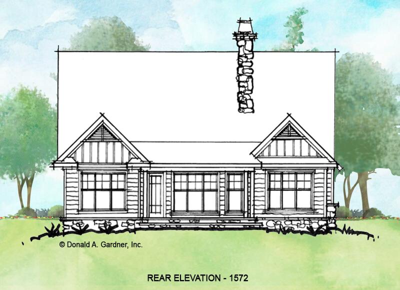 Rear elevation of conceptual design 1572.