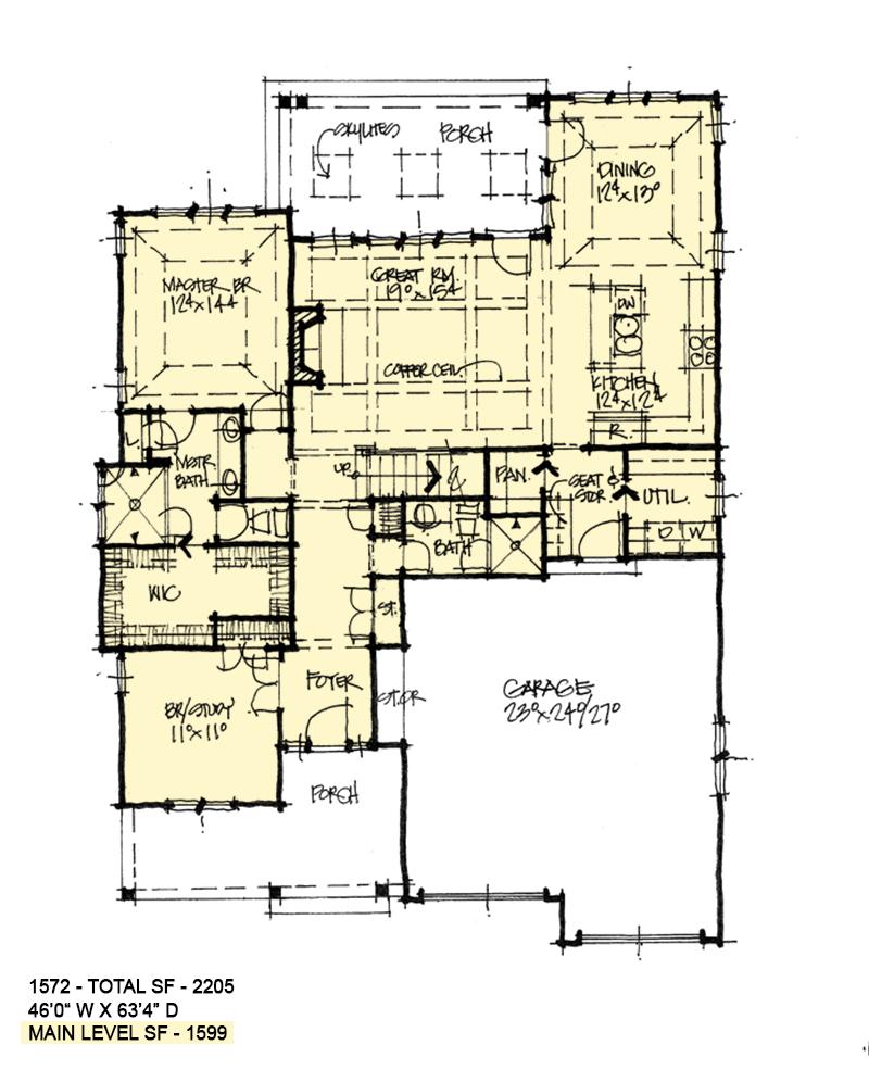 First floor of conceptual design 1572.