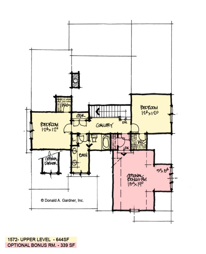 Second floor of conceptual design 1572.