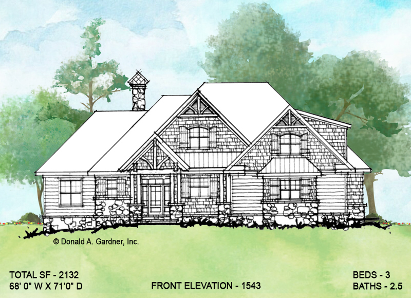 Front elevation of conceptual design 1543.