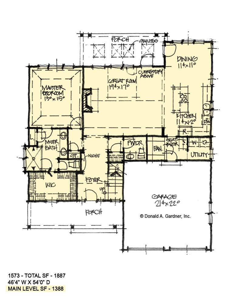 First floor of conceptual design 1573.