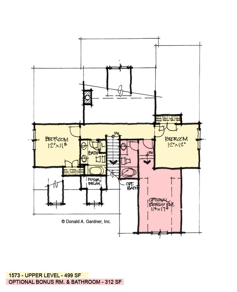 Second floor of conceptual design 1573.