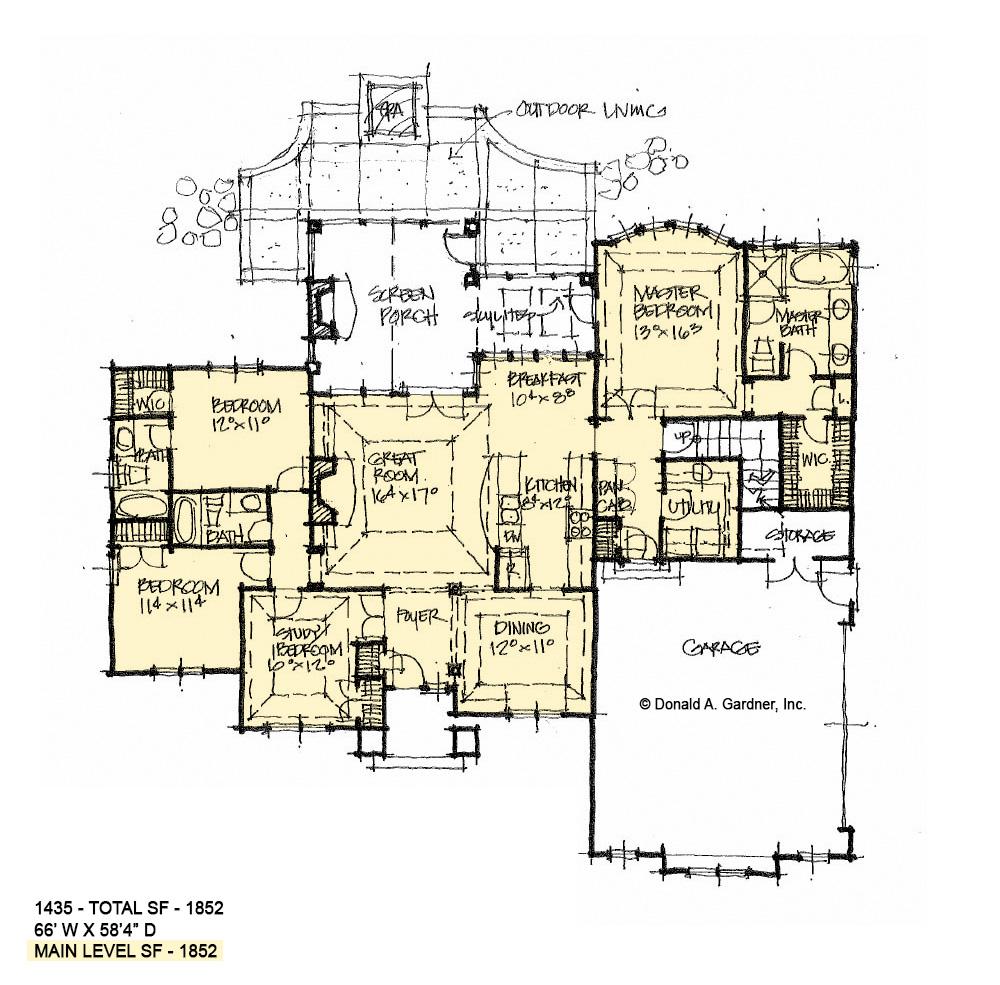 Conceptual House Plan 1435 - Floor Plan