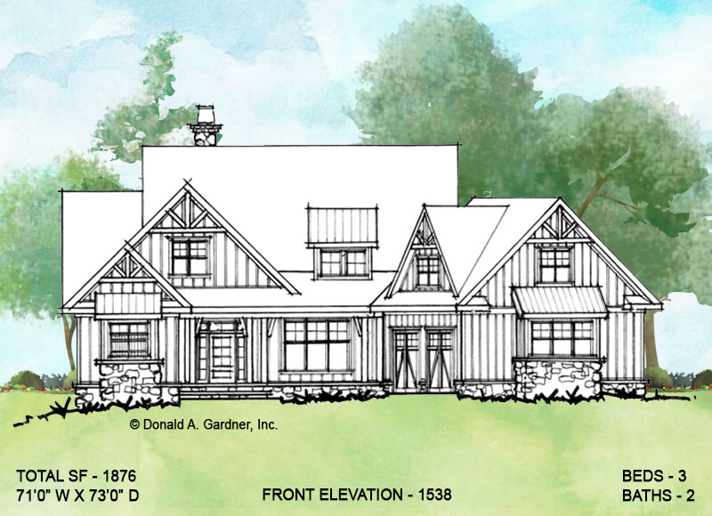 Front elevation of conceptual design 1538.