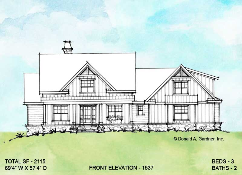 Front elevation of conceptual design 1537.