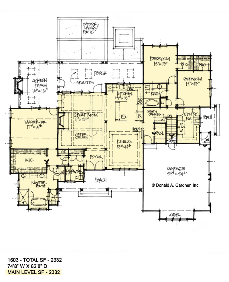 First floor of conceptual house plan 1603.