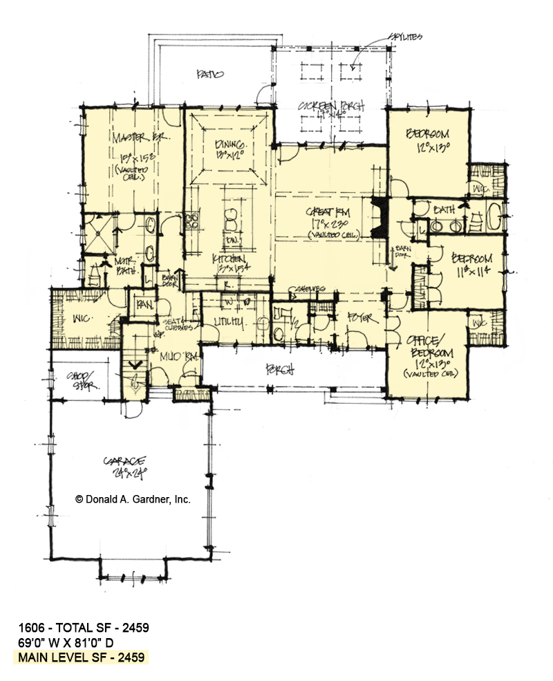 First floor of Conceptual house plan 1606.