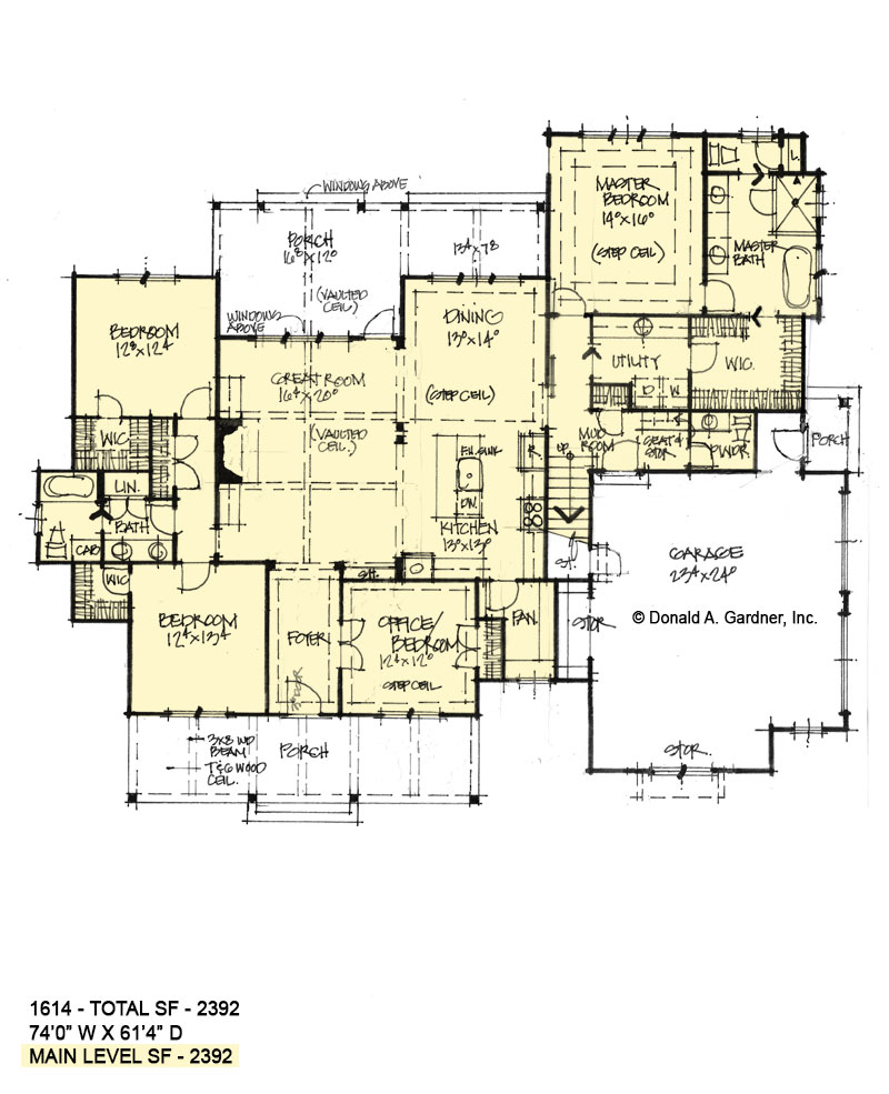 First floor of Conceptual house plan 1614.